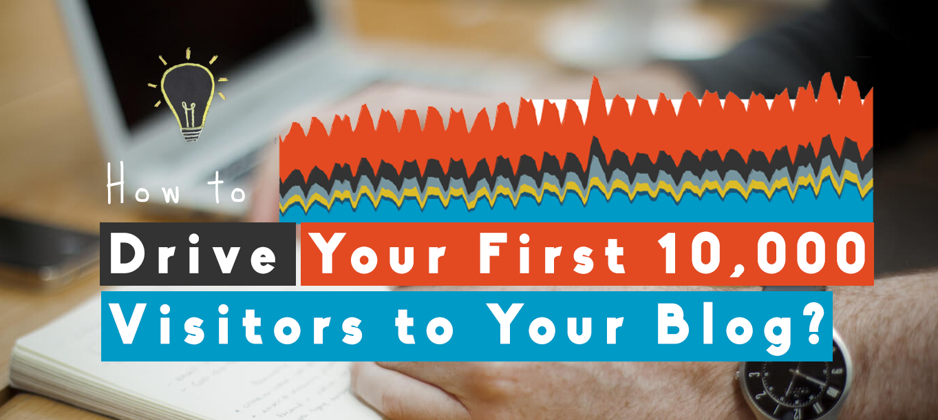 how to drive your first 10000 visitors to blog