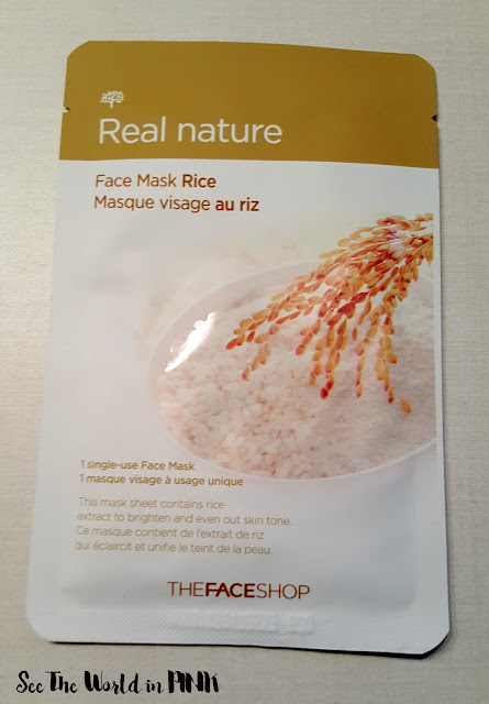the face shop rice mask