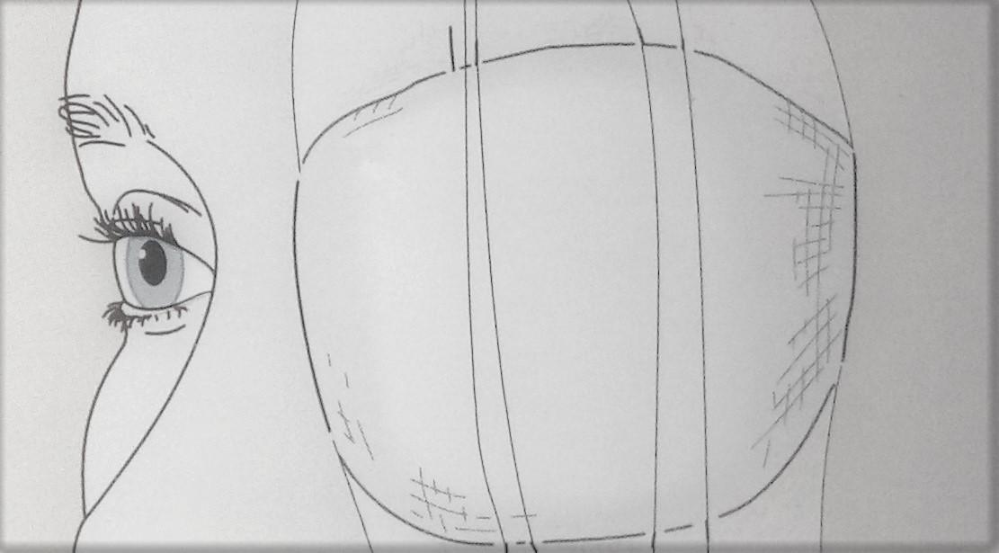 how to make an eye pad?