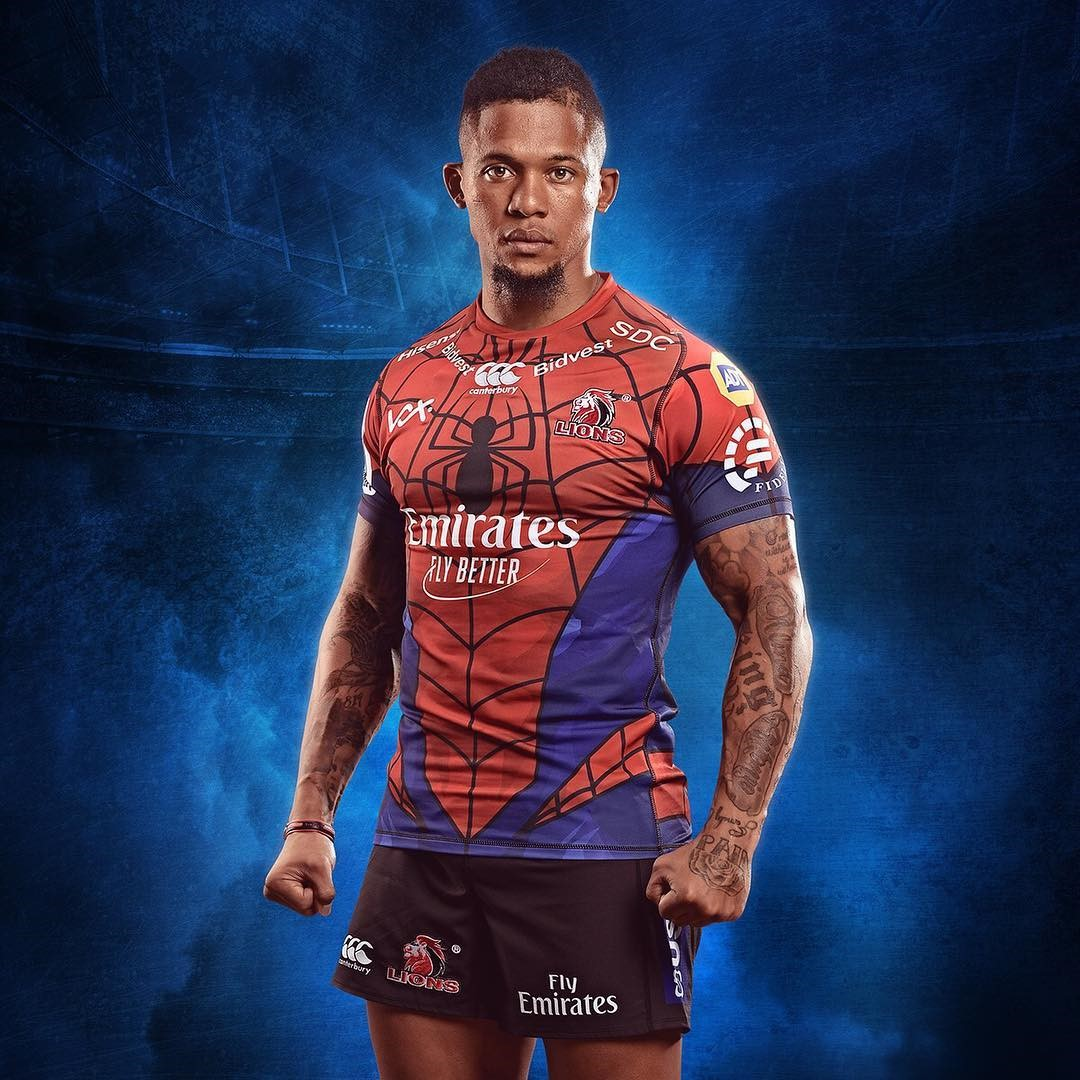 bcc65ad5252 The Lions will don the Peter Parker inspired suit of Spider-Man for this  season's Super Rugby campaign.