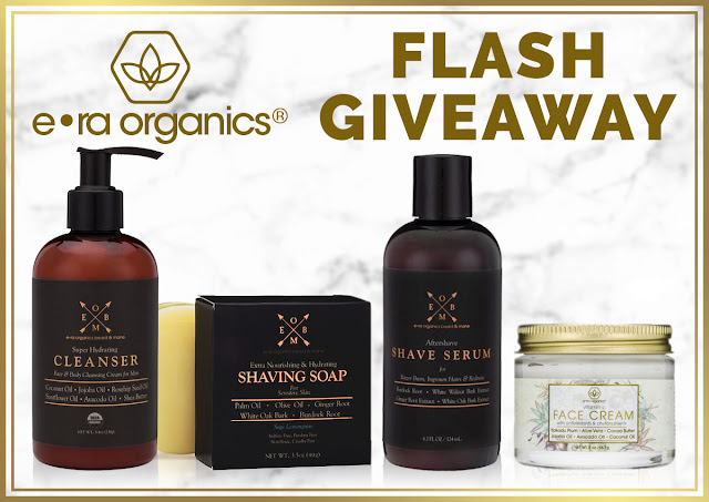 ERA Organics Men's Skin Care Flash Giveaway Ends 8/8