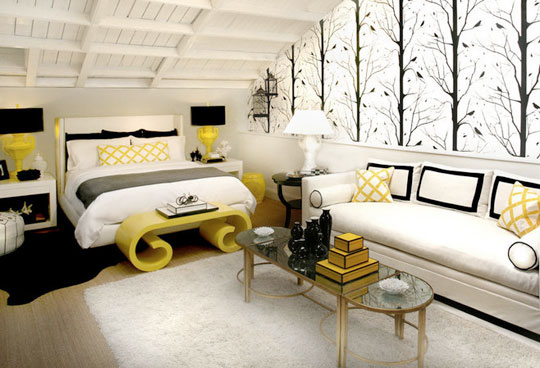 Bright Smile: Yellow And Grey In The Home