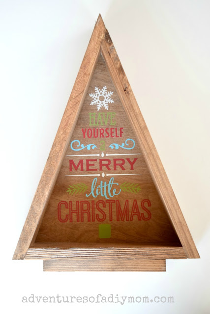 triangle christmas tree - diy