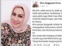 Dian Anggraeni Umar: MCA tidak dibayar siapapun, Kita semua bergerak militan dengan niat Lillahi ta'ala