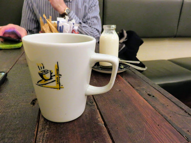 Coffee cup at Java Lounge in Birmingham, England