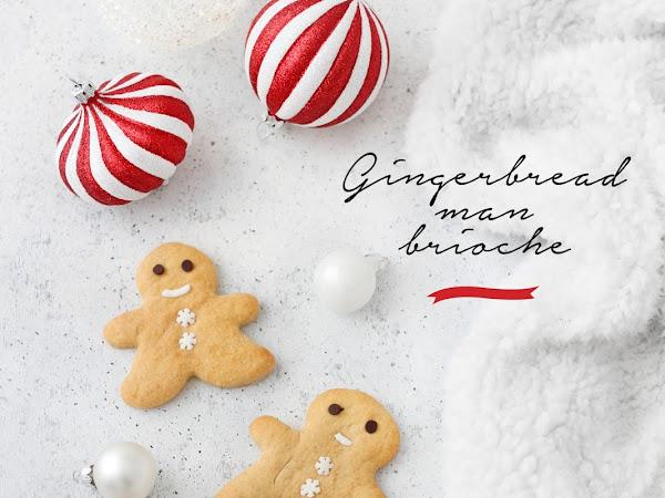 Gingerbread man brioche