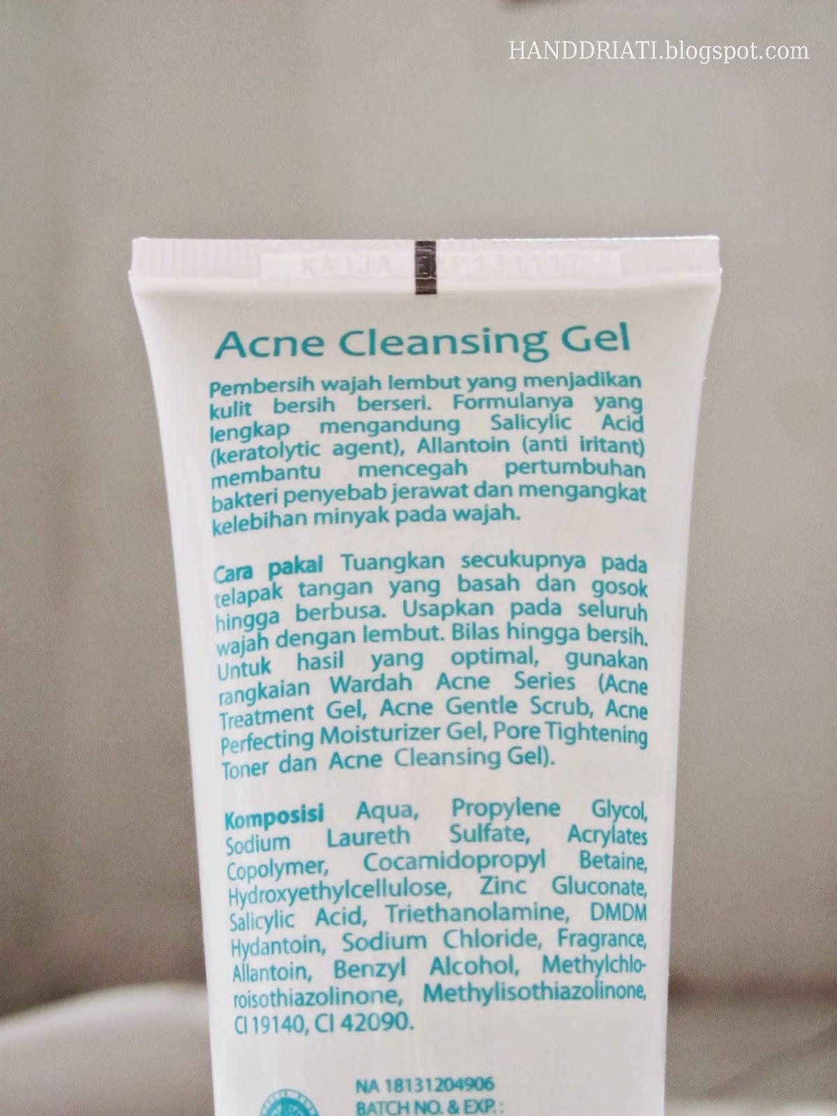 Review Wardah Acne Cleansing Gel si Pembersih Wajah Untuk