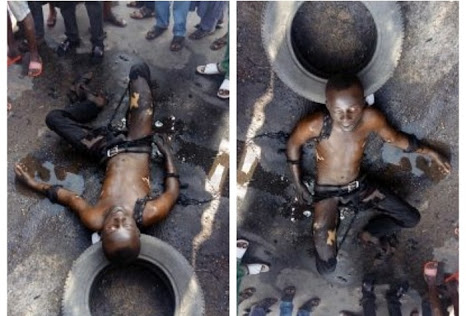 Young Man Set Himself On Fire Due To Hardship In Lagos