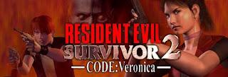 Logo Marca Resident Evil Survivor 2 CODE Verônica PS2 2001