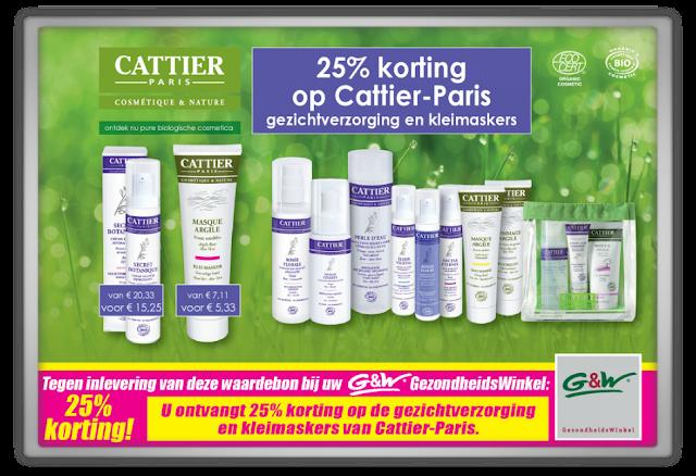 25% korting op Cattier paris gezondheidswinkel
