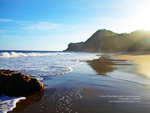 pemandangan pantai umbul waru blitar