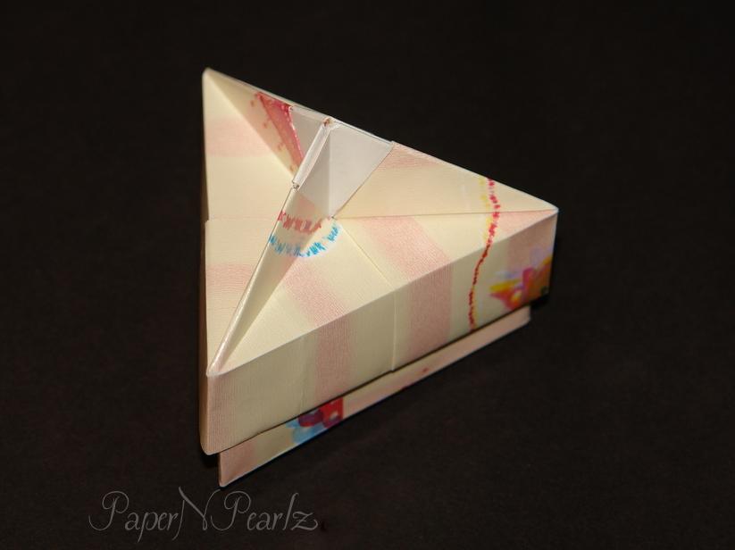 Origami Triangular Box | 616x823