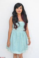Sahana New cute Telugu Actress in Sky Blue Small Sleeveless Dress ~  Exclusive Galleries 008.jpg