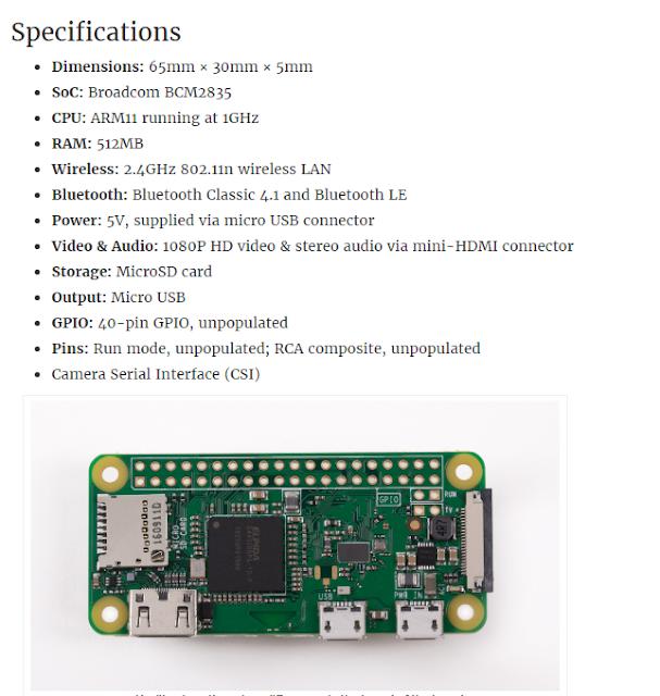 Raspberry Pi Zero W mini pc with integrated wi-fi bluetooth