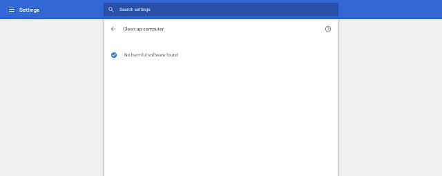 Google Chrome nije pronašao virus