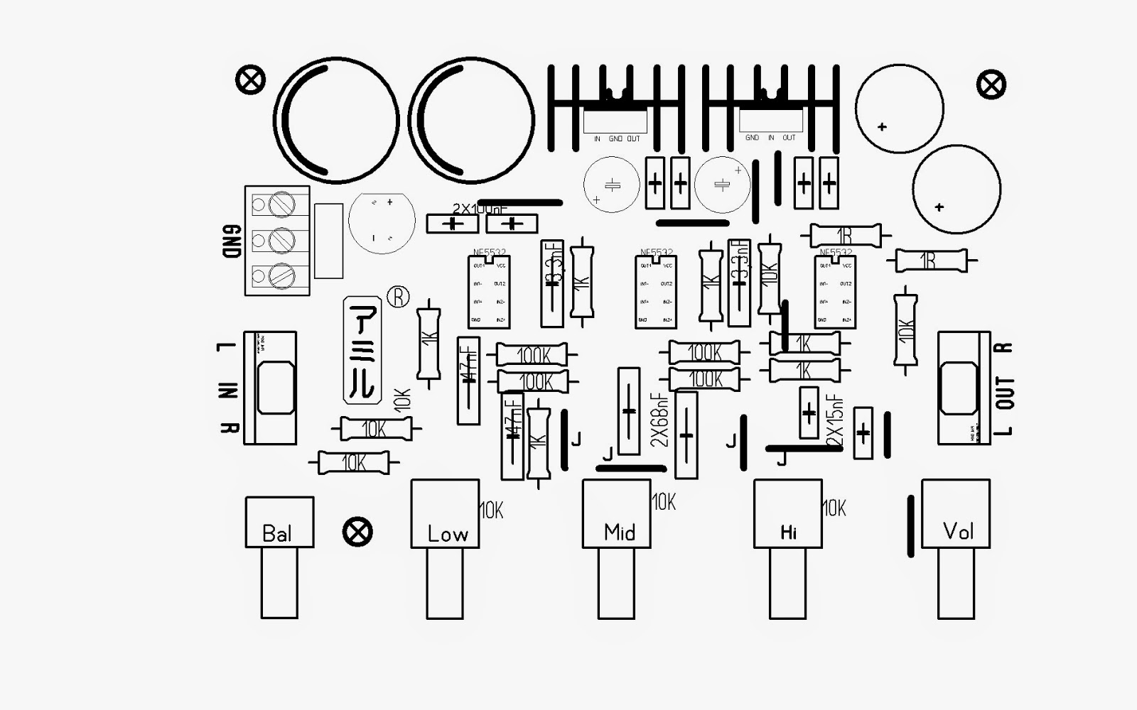 diy electronics projects  tone control parametric and sub