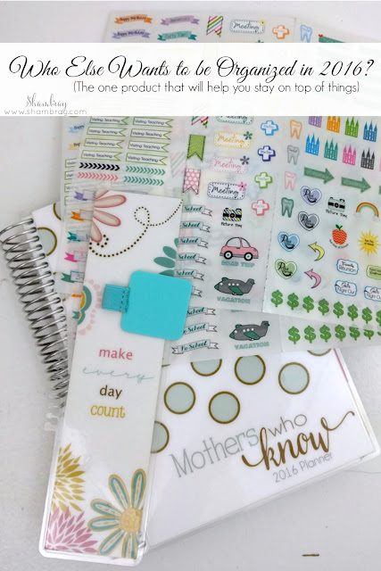Mormon Mom Planner, Bookmark, stickers, pen holder