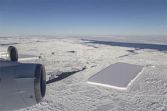 Nasa - Iceberg retangular - novas imagens - 2