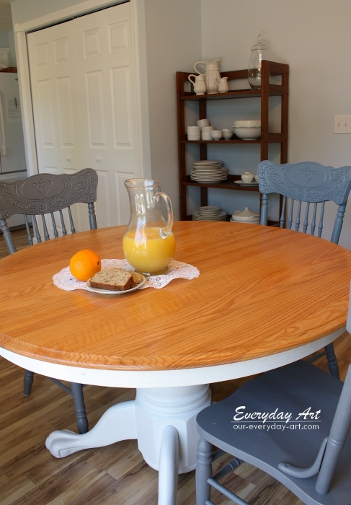 Everyday Art Painted Kitchen Table