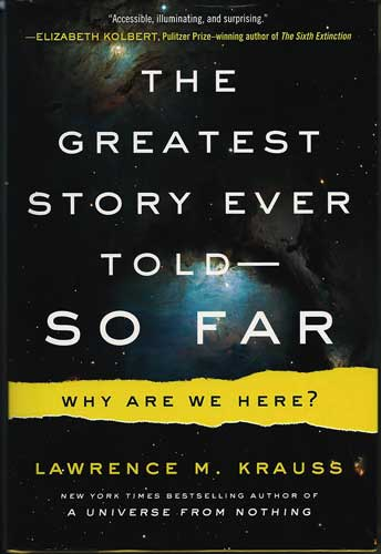 "Palmia Observatory gets signed copy of Lawrence Krauss new book ""The Greatest Story Told - So Far"""