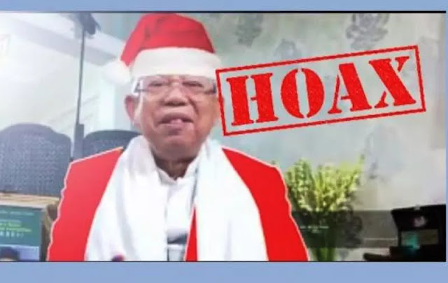 Polisi Ciduk Penyebar Video Ma'ruf Amin Pakai Baju Sinterklas