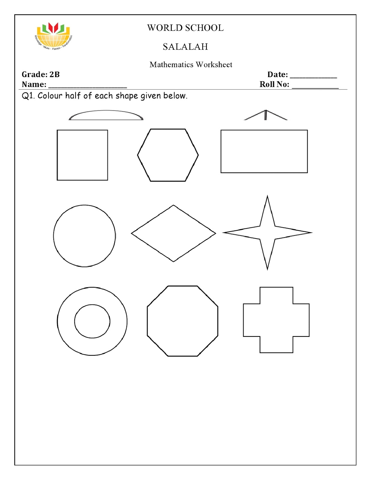 Birla World School Oman Homework For Grade 2 As On 04 01
