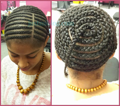 How to braid hair before a full sew-in with lace closure