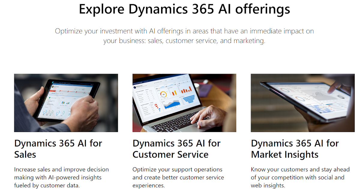 Dynamics 365 AI - Systems of Intelligence
