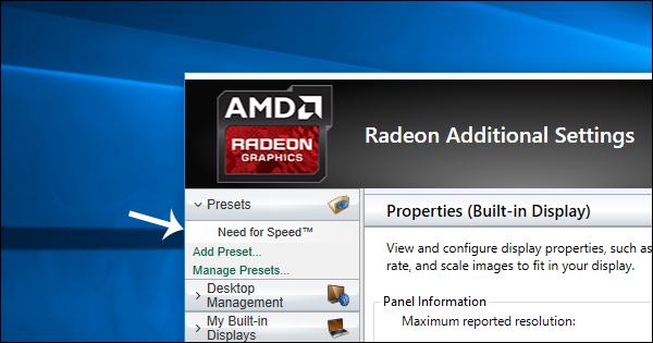 تشغيل الالعاب والبرامج علي كارت الشاشة الخارجي Amd بدلا من