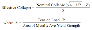 collapse pressure deration