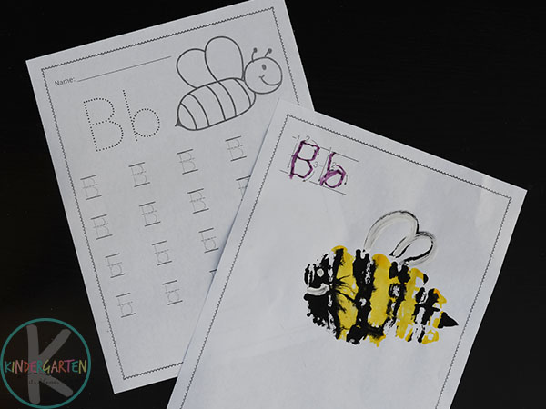letter b kindergarten worksheets