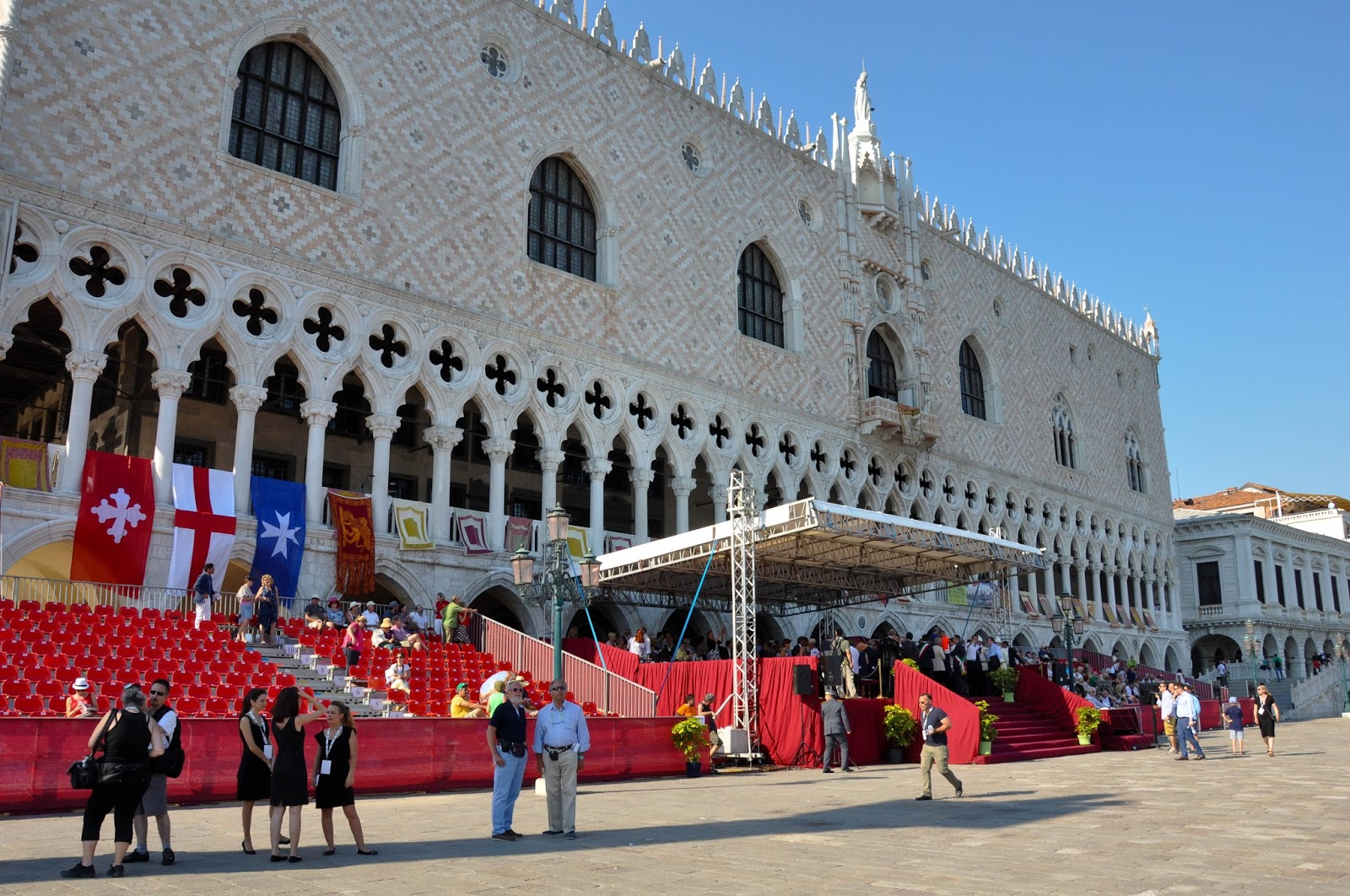The Doge's Palace and the stands, Historical Parade, Regatta of the Ancient Maritime Republics, Venice, Italy