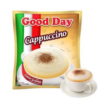 Cara membuat kopi instan dalam bahasa inggris Good Day Cappuccino