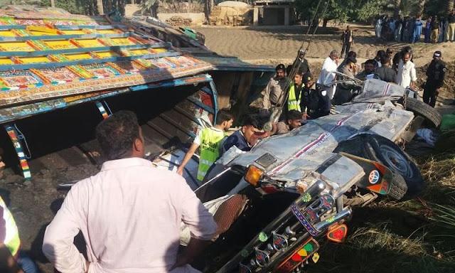 20 dead as passenger van rams into coal truck
