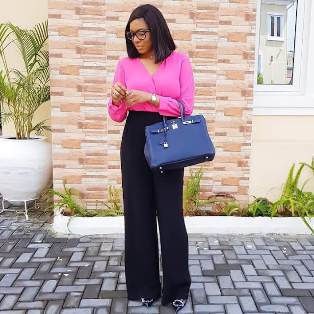 Photos:  Chika Ike steps out with her newly acquired Hermes bag