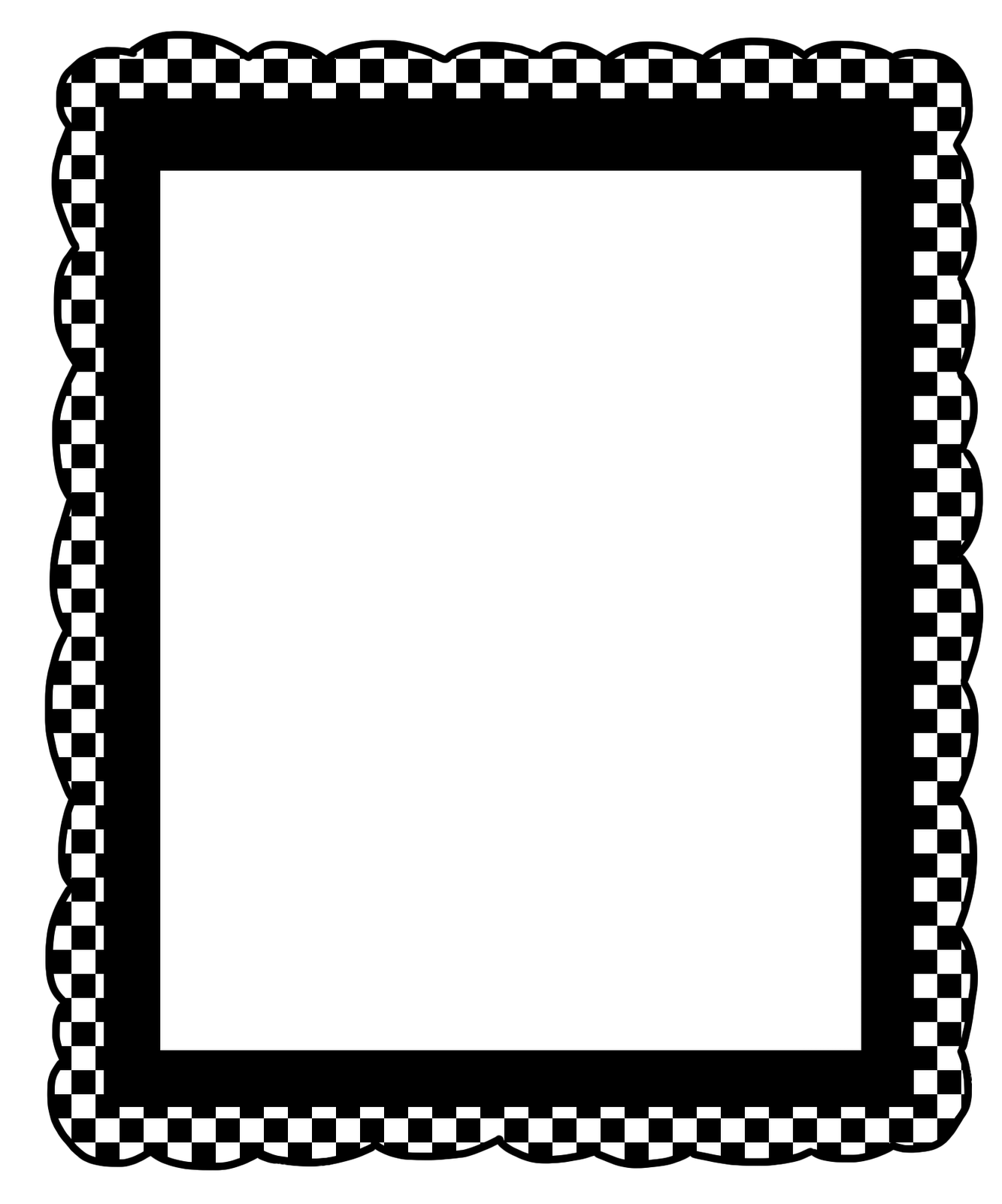 Black And White Checkered Borders
