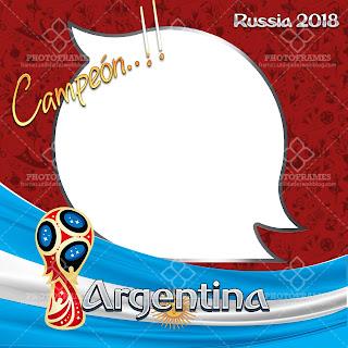 Hermoso marco para fotos del mundial de fútbol Rusia 2018 versión Argentina