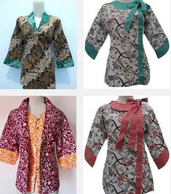 Model Dress Batik Orang Gemuk untuk kerja kantor