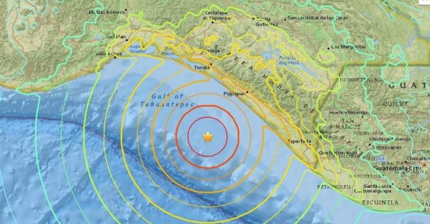MÉXICO: Alerta de tsunami tras fuerte sismo de magnitud 8,0 - Guatemala - El Salvador - Costa Rica - Nicaragua - Panamá - Honduras - Ecuador - Perú