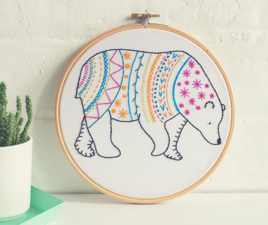 Christmas Gift Ideas For Your Mum and Dad | An embroidery gift could inspire your mum to start a new hobby!