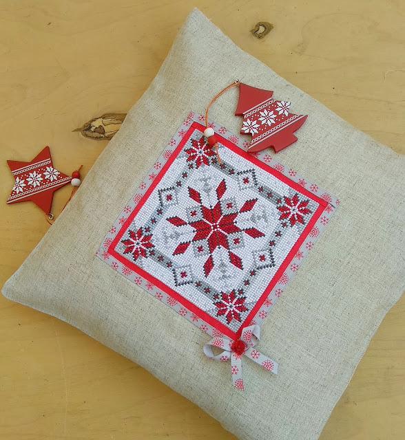 вышивка крестом подушка Скандинавская звезда 1 от Vervaco