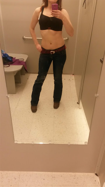 sports bra, cowboy boots, jeans, panache, full bust, my thoughts on bras