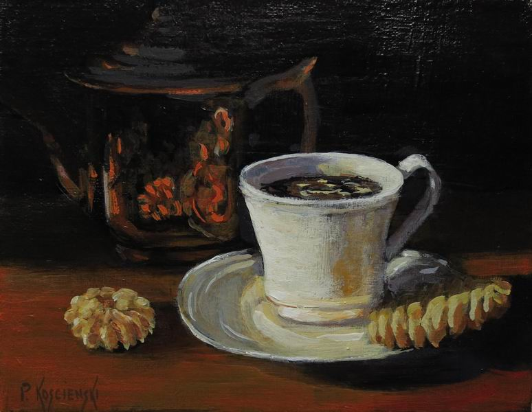 Fine Art By Pat Koscienski Coffee Time Impressionistic