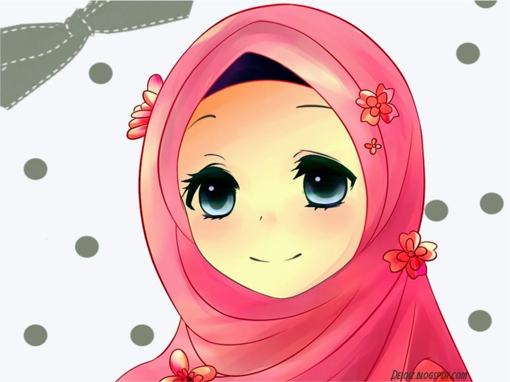 Foto Kartun Muslimah Keren Bilik Wallpaper