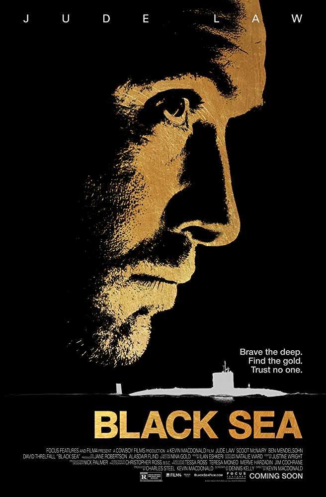 Poster Black Sea 2014 Full Movie Dual Audio Hindi Free Download 300Mb
