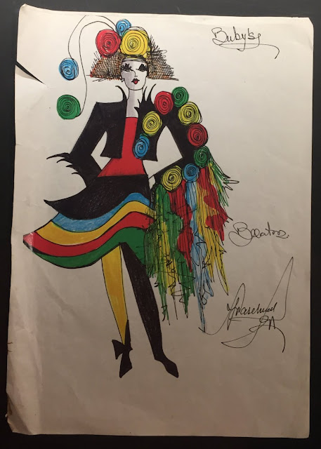Carnival costume design drawing