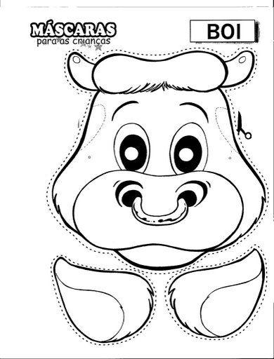 ESPAÇO EDUCAR: Máscara de boi!