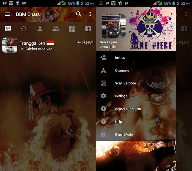 BBM Mod One Piece Portgas D Ace Versi 3.2.0.6 Apk Terbaru