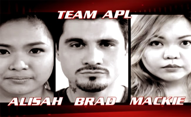Watch The Performance of Alisah Bonaobra, Bradley Holmes and Mackie Cao of The Voice of the Philippines Season 2 Team Apl