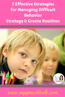 create routines in speech therapy